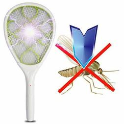 Electric Fly Mosquito Green Swatter Bug Wasp Zapper Racket I