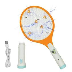 Electric Fly Swatter - Rechargeable Bug Zapper, Fruit Fly Ki
