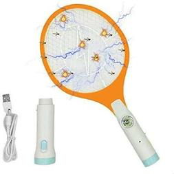 Electric Fly Swatter - Rechargeable Bug Zapper, Fruit Killer