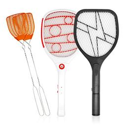 BugKwikZap Electric LED Light Swatter - 4 Products in One Pa