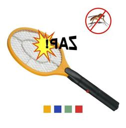 Electric Mosquito Fly Swatter Zapper Racket Handheld Bug Ins
