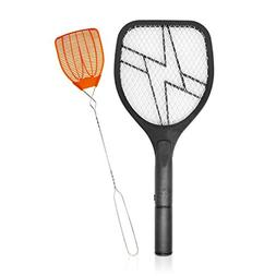 BugKwikZap Electric Mosquito Swatter Zapper - with Hand Fly