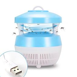 ALLOMN Electric LED Mosquito Trapper Pest Bug Zapper Portabl