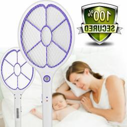 Electronic Rechargeable Fly Swatter Mosquito Racket Bug Zapp