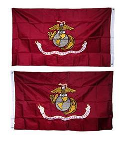 ALBATROS 2 ft x 3 ft Embroidered USMC Marines Corps Double S