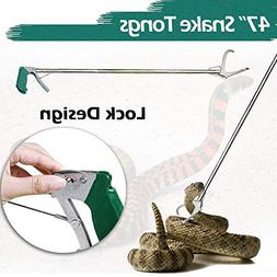 """IC ICLOVER 47"""" Extra Heavy Duty Standard Reptile Snake Tongs"""