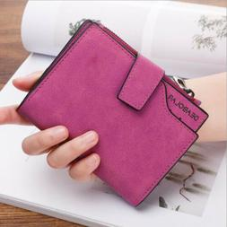 Fashion Leather Small Wallet Luxury Women Short Coin Zipper