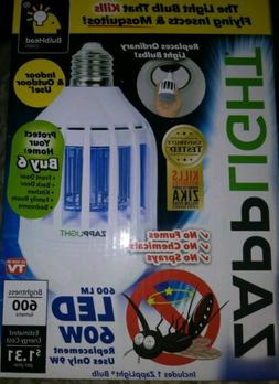 Genuine ZappLight 2 in1 LED Light Bulb & Bug Zapper -Kills I