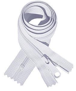 """Zipperstop Wholesale YKK® YKK #4.5 Handbag Zipper 60"""" wit"""