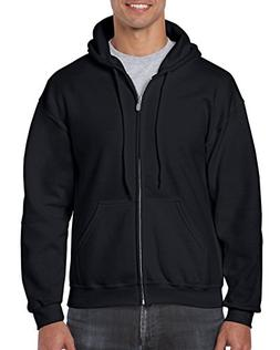 Gildan Heavy Blend Fleece Full Zip Hoodie L, Black