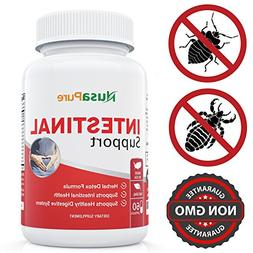 Intestinal Support for Humans  with Wormwood, Garlic, Black