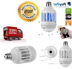 IP Camera - Light Bulb Design, Bug Zapper, Motion Detection,