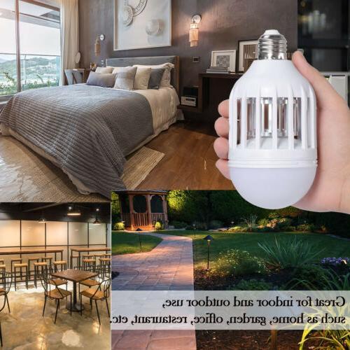 2 Pack Light LED Lightbulb Bug Mosquito Fly Killer Lamp Home