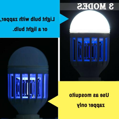 2 LED Lightbulb Bug Mosquito Fly Lamp