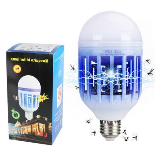 2in1 Light Zapper LED Light Bulb Bug Mosquito Fly Insect Kil