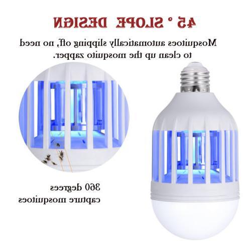 2 LED Lightbulb Bug Mosquito Fly Insect Killer Bulb Lamp Home