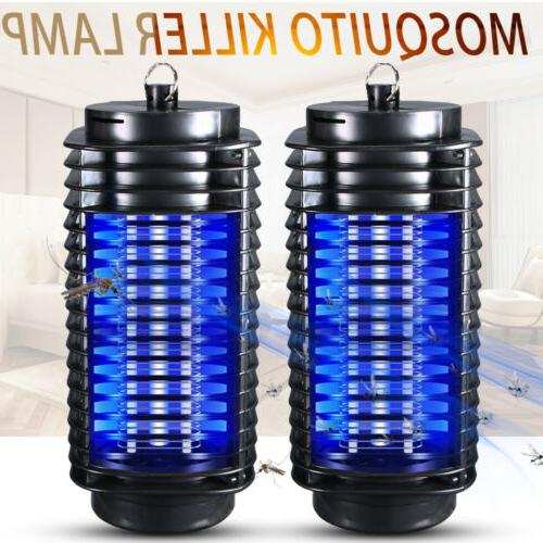 2 Set Electric UV Mosquito Killer Lamp Outdoor Indoor Fly Bu