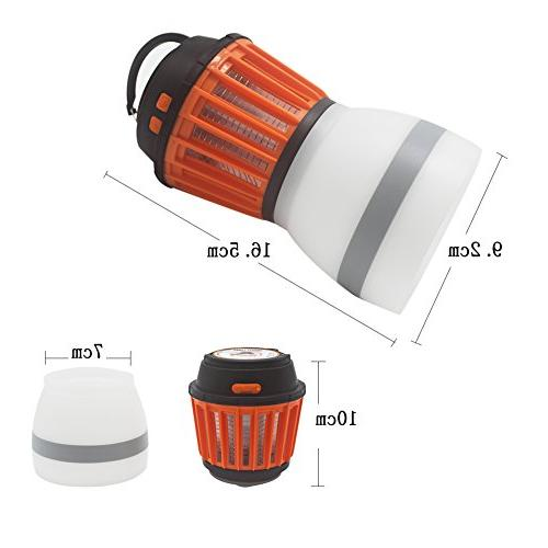 Anordsem Rechargeable Zapper Tent Lantern Bug Function USB Charging Solar Charging Camping