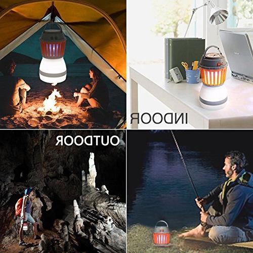 Anordsem LED Camping Rechargeable Lantern with Bug Function USB Solar for Camping