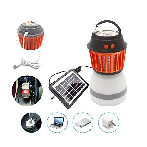 Rechargeable Zapper Lantern with Function USB Solar Camping Hiking,