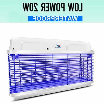 20W Electric Outdoor UV Mosquito Killer Bug Zapper Pest Ligh
