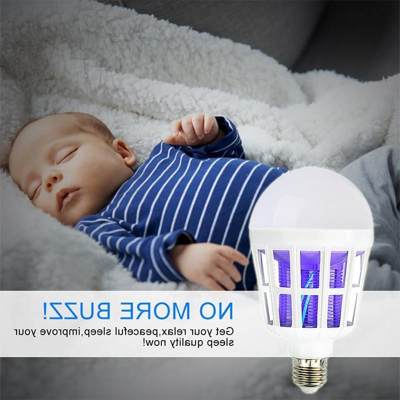 220V UV LED Bulb 15W Mosquito Killer Lamp 2 In 1 Mosquito Light Fly <font><b>Bug</b></font> <font><b>Zapper</b></font> Night Baby
