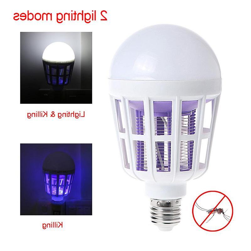 220V Bulb Mosquito Lamp 2 Mosquito Trap Light Bulb Fly <font><b>Bug</b></font> <font><b>Zapper</b></font> Night Baby