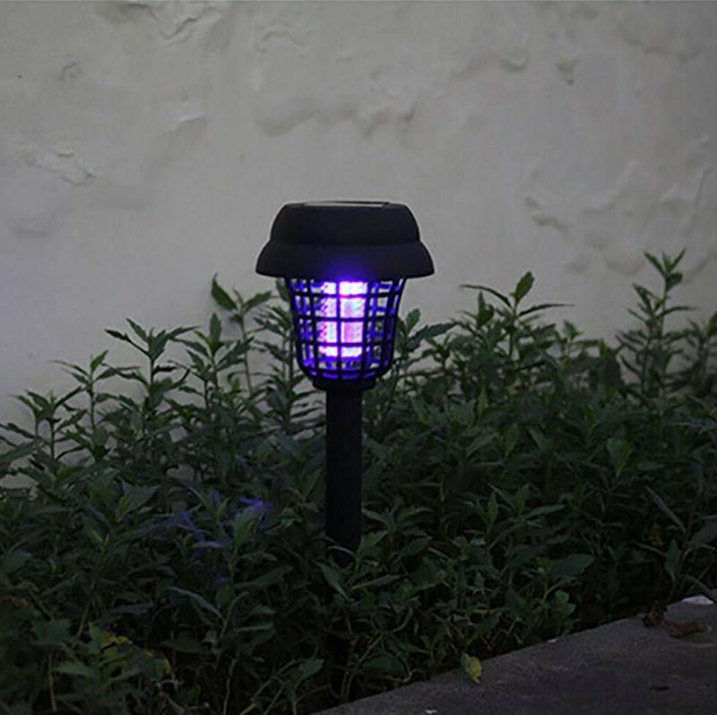 1-2Pc Mosquito Zapper Solar LED Light Garden