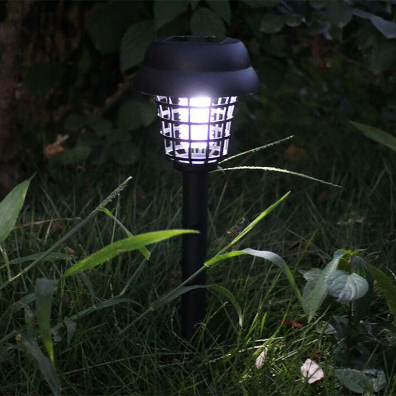 1-2Pc Mosquito Zapper Insect Killer Solar Powered LED Garden