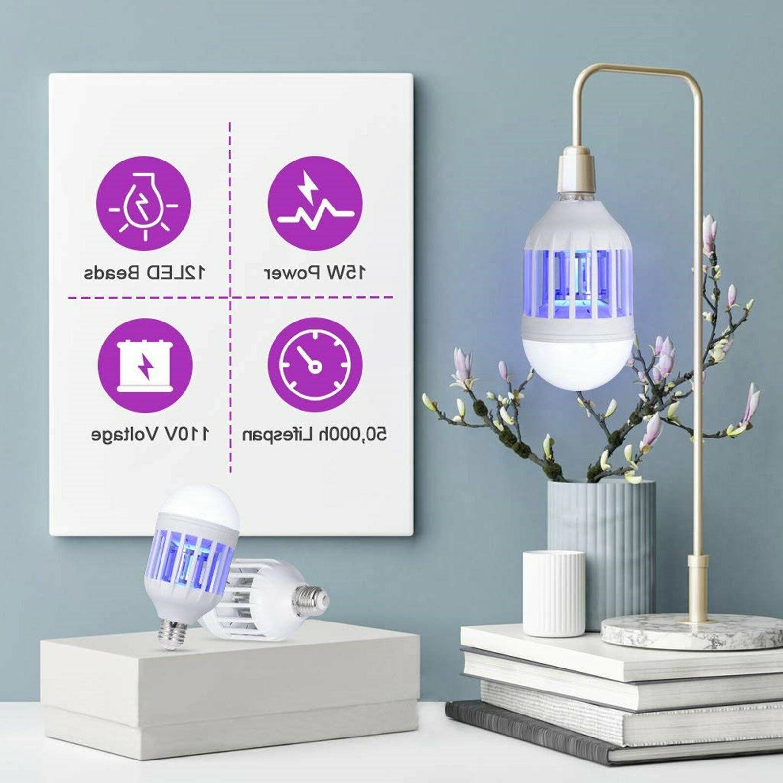 2PCS 2 Light Bulb Bug Mosquito Insect Bulb Lamp