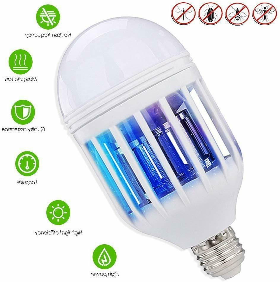 Bug Zapper Light Bulb Mosquito Lamp Fly Trap Killer Indoor O