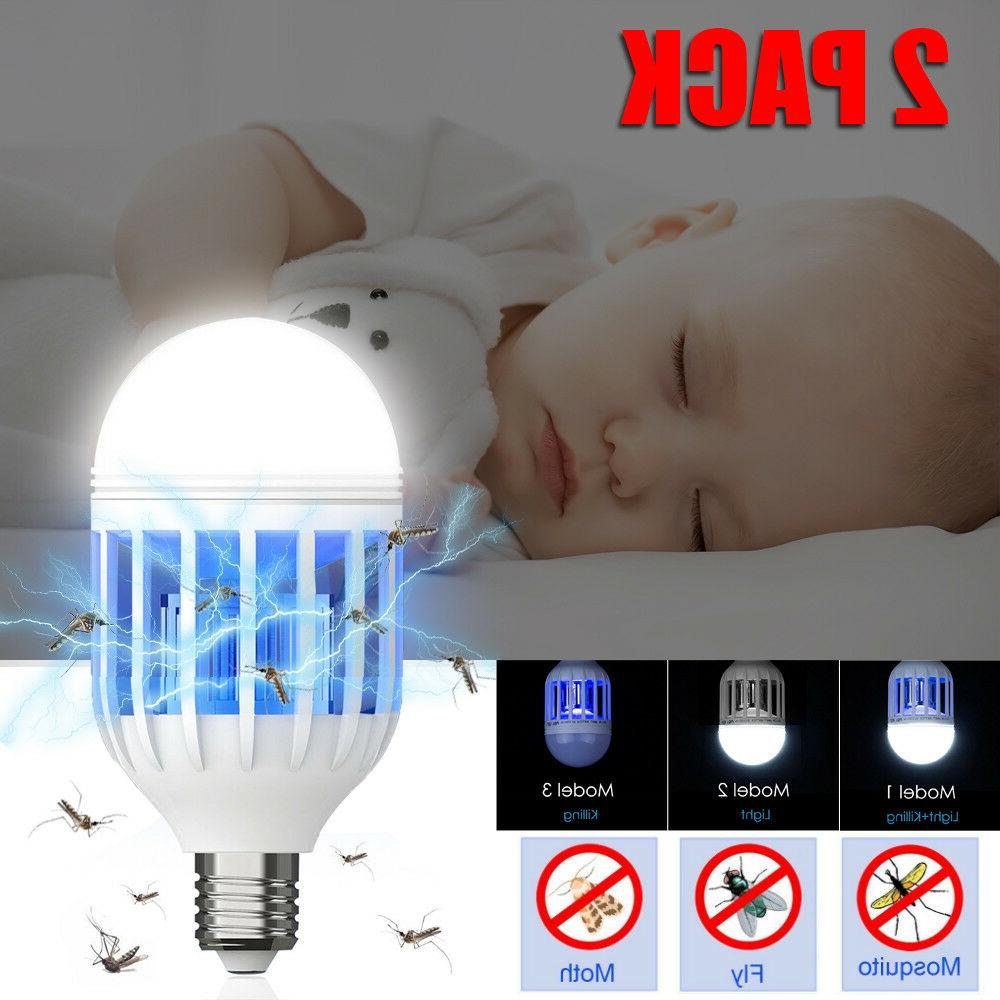 2Pcs Bug Zapper Light Bulb Mosquito Lamp Fly Trap Killer Outdoor Insect