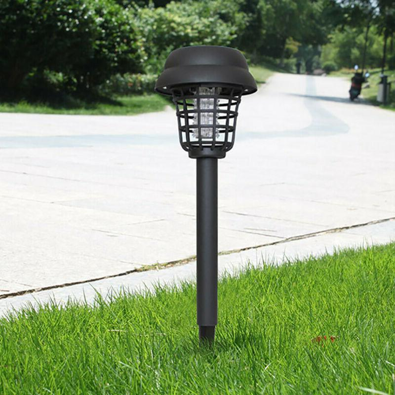 2Pcs Solar Light Mosquito Zapper Insect Stand