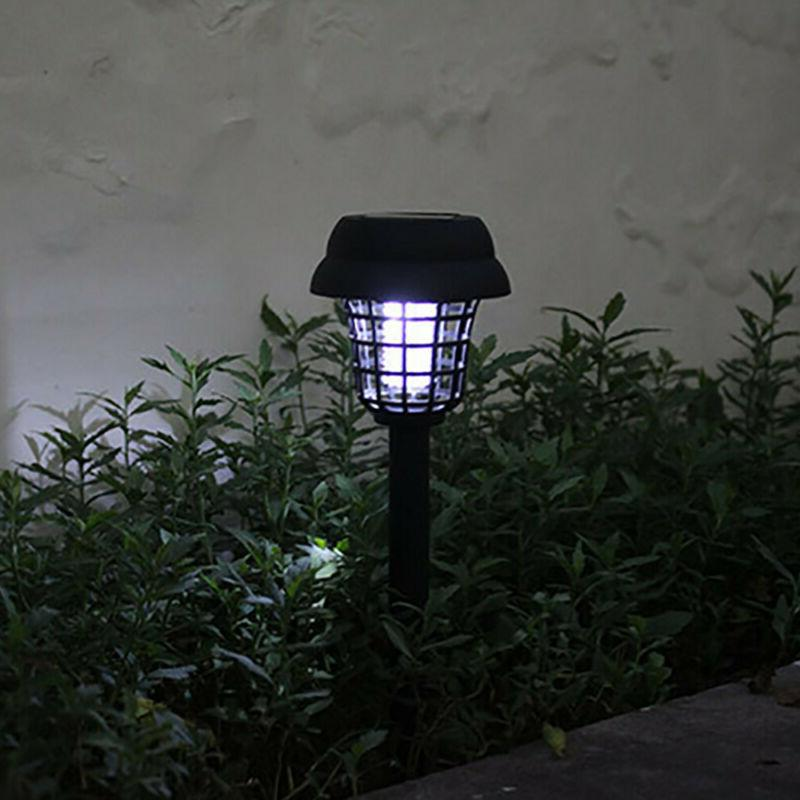 2Pcs Solar Powered LED Light Mosquito Zapper Insect Lamp Stand