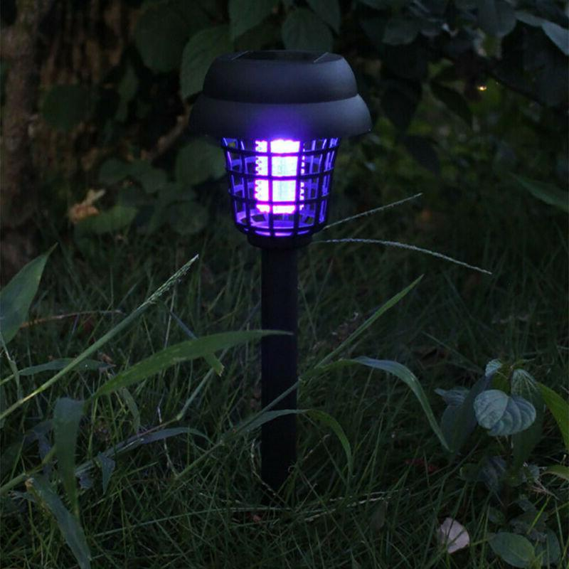 2Pcs Solar Powered Light Mosquito Zapper Insect Stand