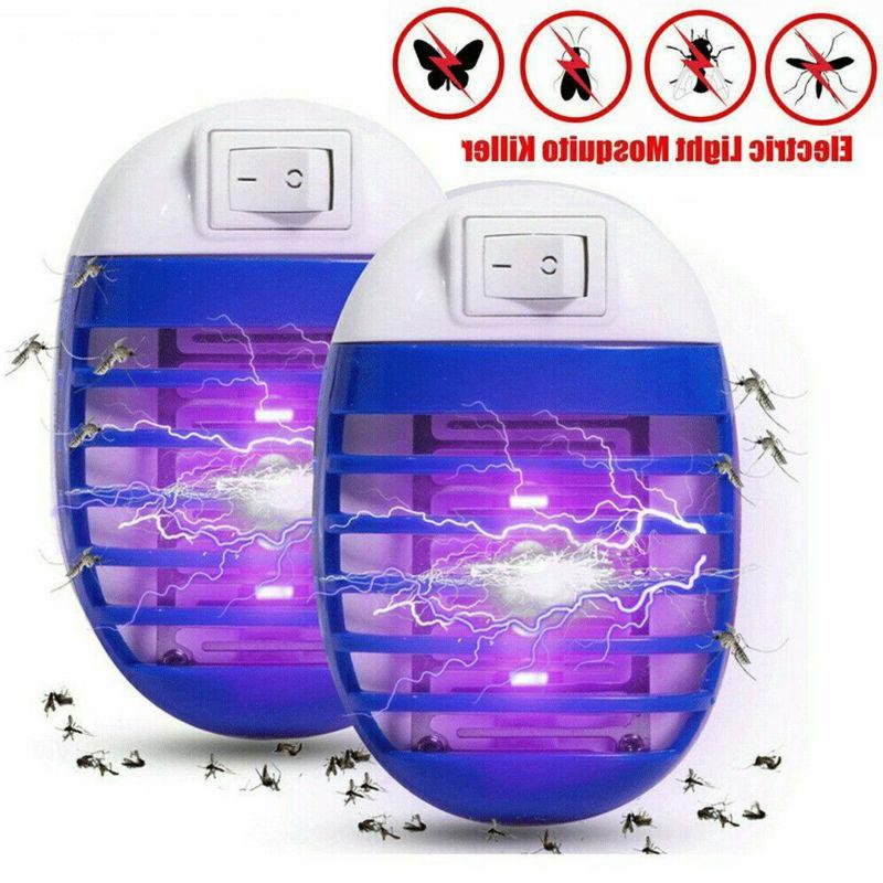 2pcs uv mosquito repellent killer lamp outdoor
