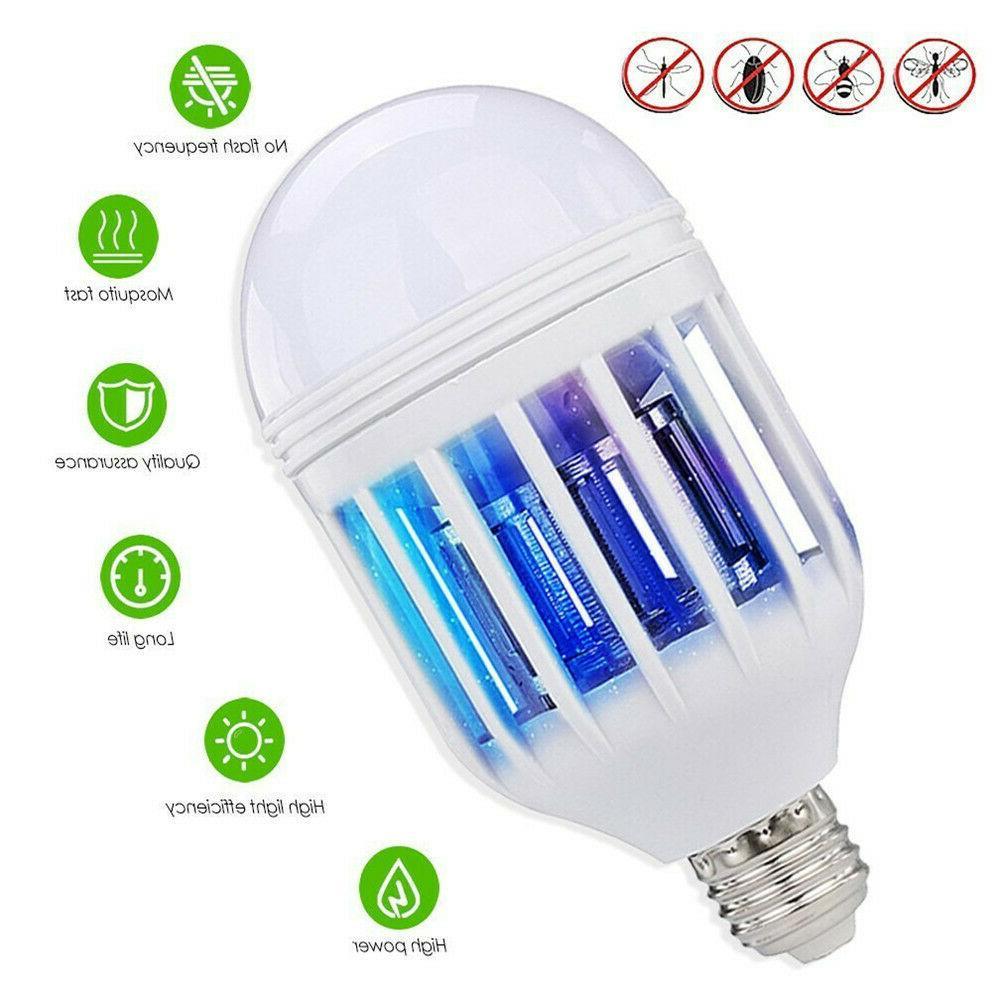 2x E27 Light LED Light Mosquito Fly Killer Bulb