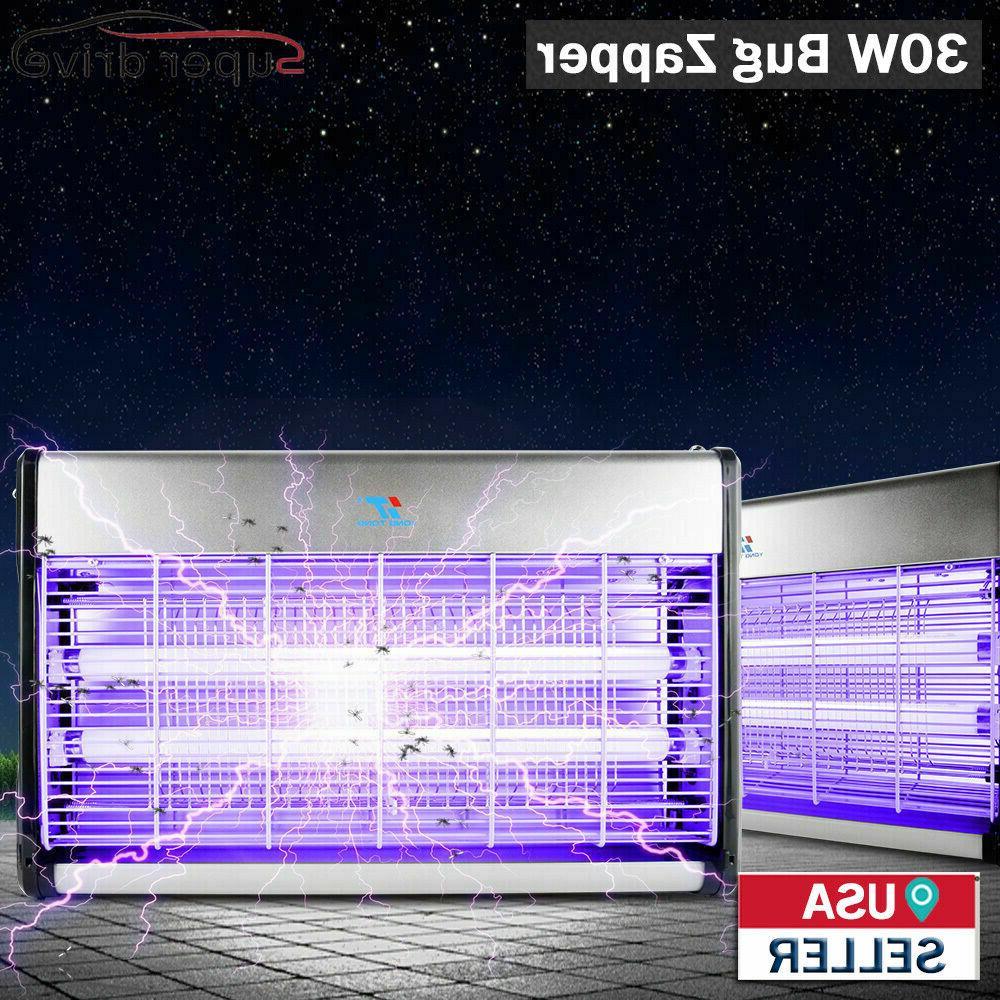 30W UV Electric Fly Trap Zapper Pest Killer Lamp