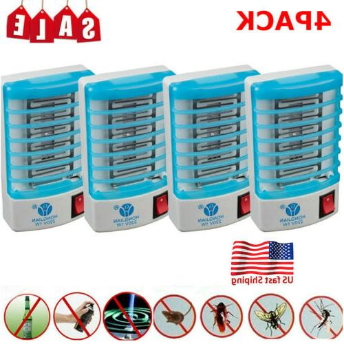 4pack electric led mosquito killer fly bug