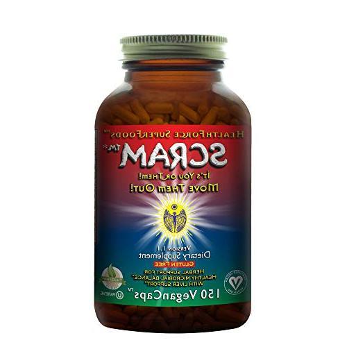 HealthForce SuperFoods Scram - 150 Vegan Capsules - All Natu