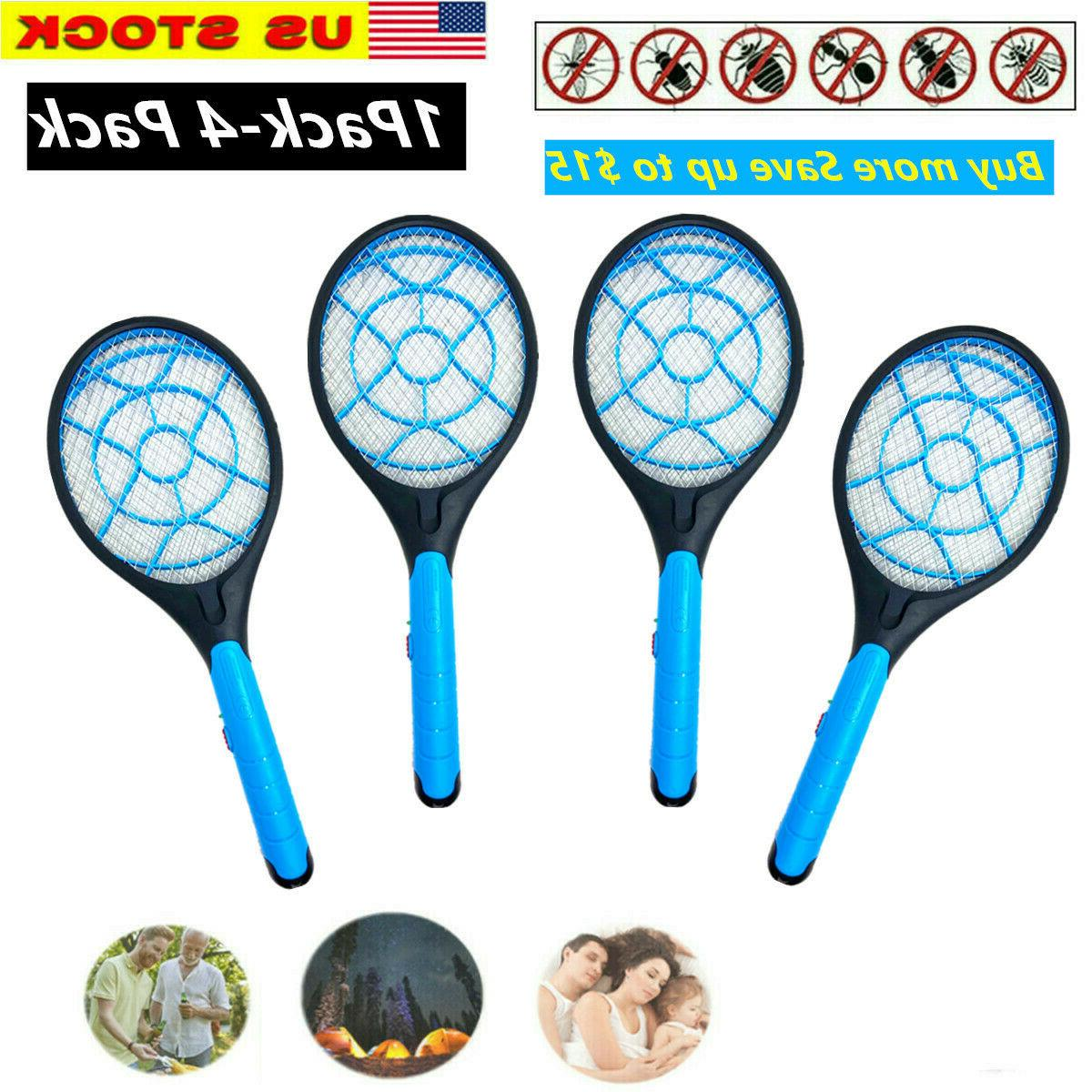 battery operated electric mosquito fly swatter zapper