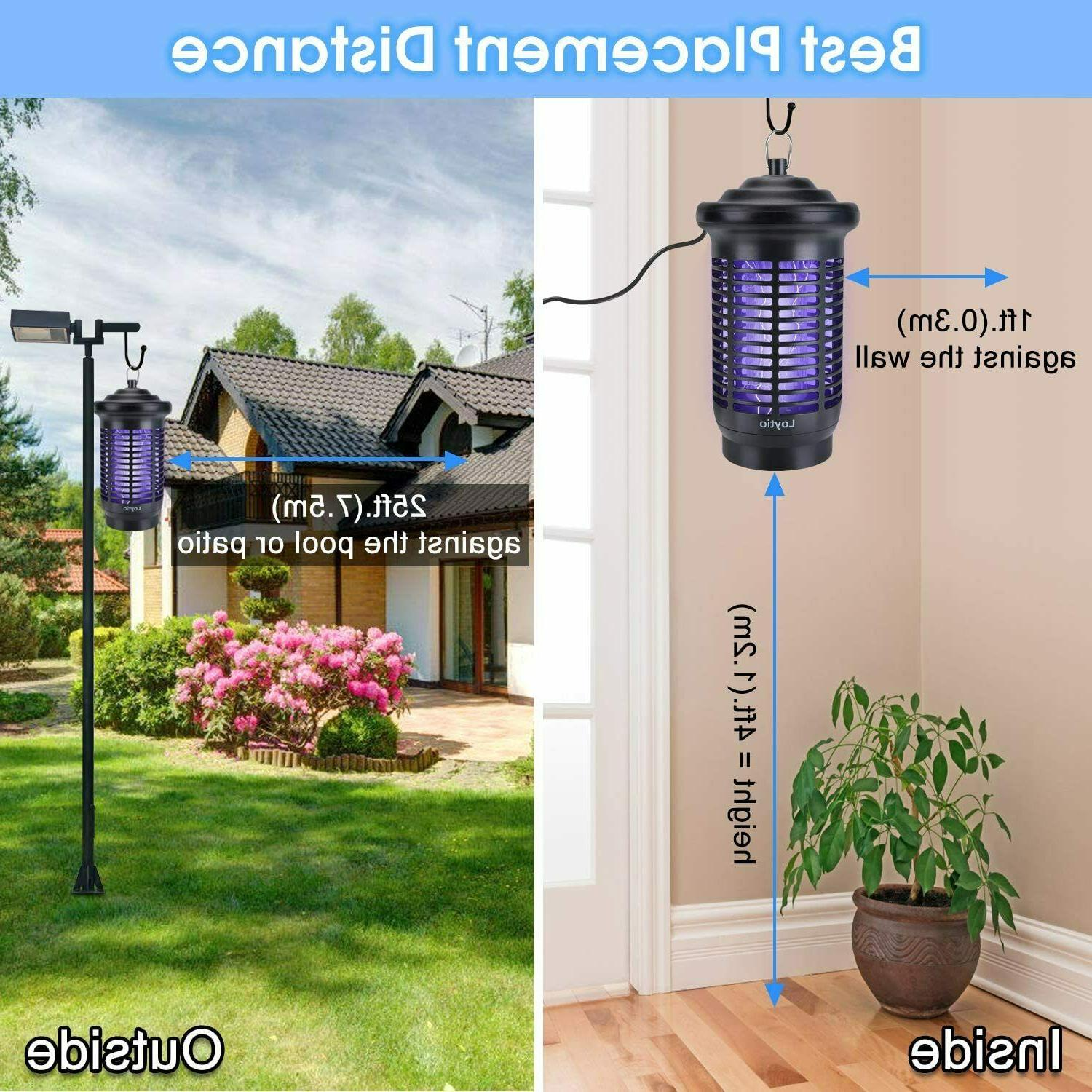 Bug Zapper, 4200V Powered Electric Mosquito Fly Insect