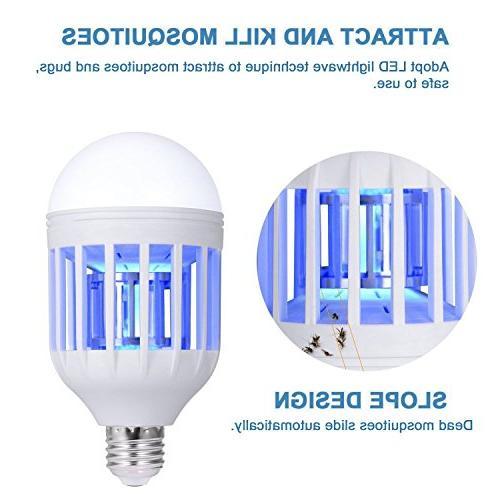 Bug Bulbs Mosquito Killer Lamp, Electronic Killer - Fly Fits 110V Light Socket Porch Patio etc