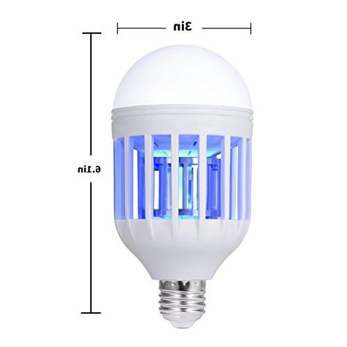 Bug Zapper Mosquito Electronic Killer in Fly Trap, in 110V Light Bulb Socket for Porch Patio