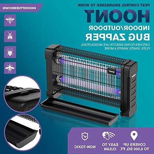 Hoont Zapper Indoor Fly Zapper Trap – 40 Watts, Protects 6,500 – Fly Killer, For Industrial Use