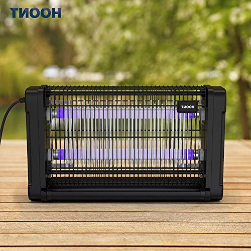 Hoont Bug Indoor Electric Fly Zapper Trap – 40 Protects Sq. Ft. – Fly Killer, For Commercial Industrial Use
