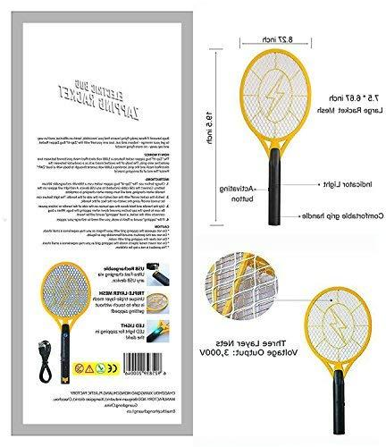 Beastron BBZ-01 Racket, Electric Fly with Rechargeable, 1 Pack