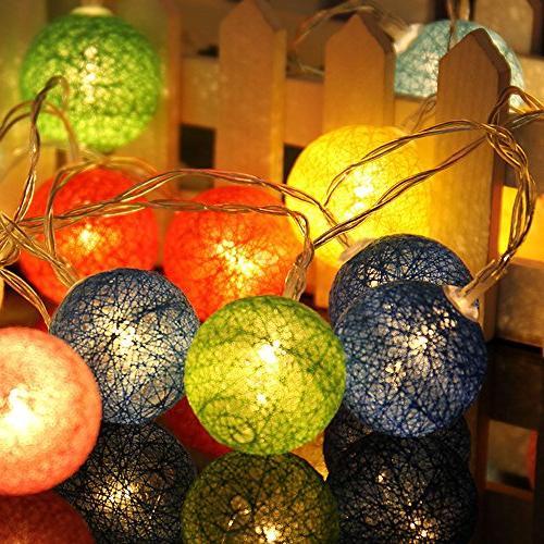 christmas 20led cotton ball string
