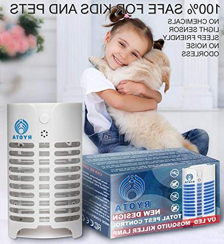 RYOTA Electric Bug Zapper with | Electronic Repellent Plug-in | Odorless Noiseless Fly | Powerful Convenient Lamp Bugs