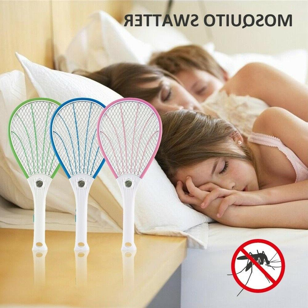 Handheld Electric Mosquito Fly Swatter Zapper Killer Bug Pes